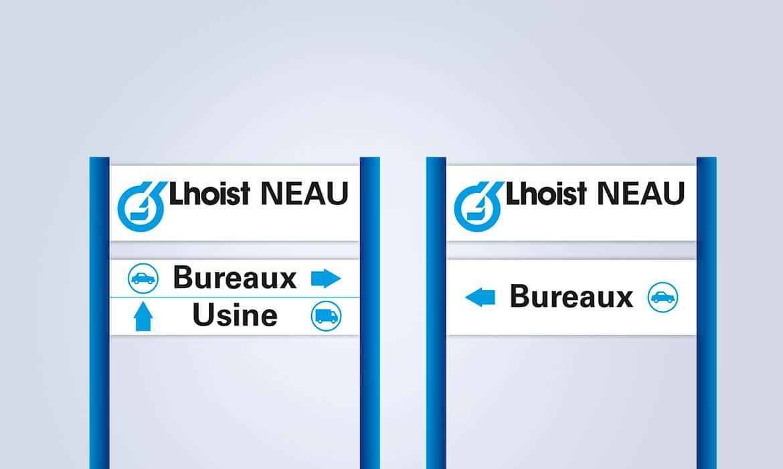 Signalétique routière Lhoist France Ouest Neau