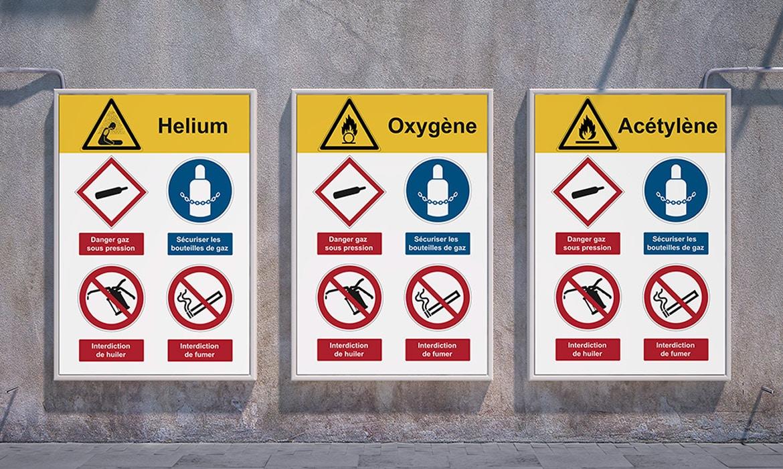 Signalez les risques liés à la présence de matières dangereuses avec des panneaux adaptés.