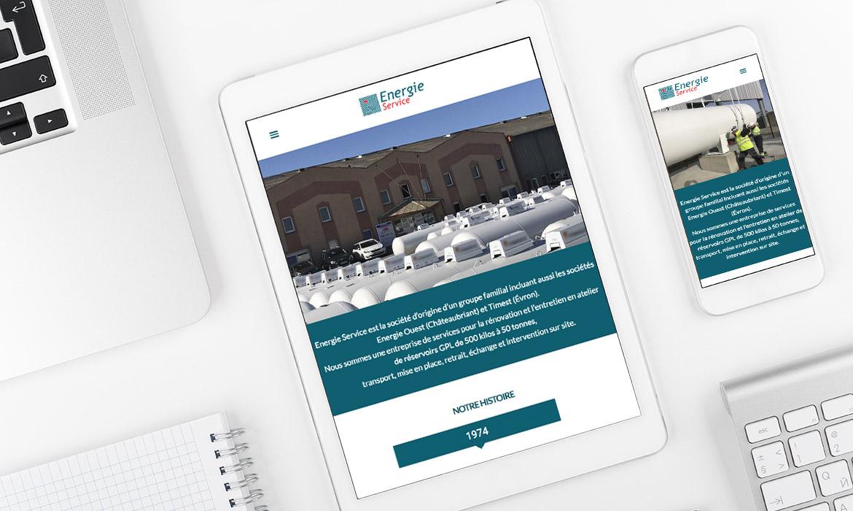 Création du site web de Energie service à Évron en Mayenne