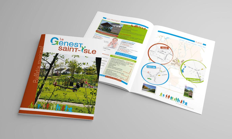 Bulletin communal réalisation couverture Studio Sauvage