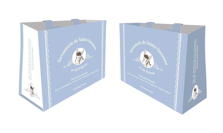 sac cabas réutilisable savonnerie au lait d'ânesse