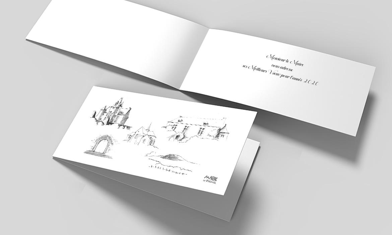Création de la carte de vœux 2020 mairie de Pirmil