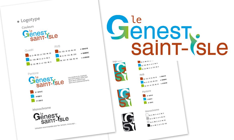 logo et charte graphique pour le Genest créés par le Studio Sauvage