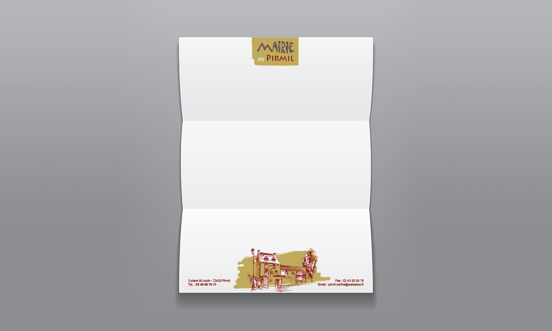 papier entête pour la commune de Pirmil en Sarthe