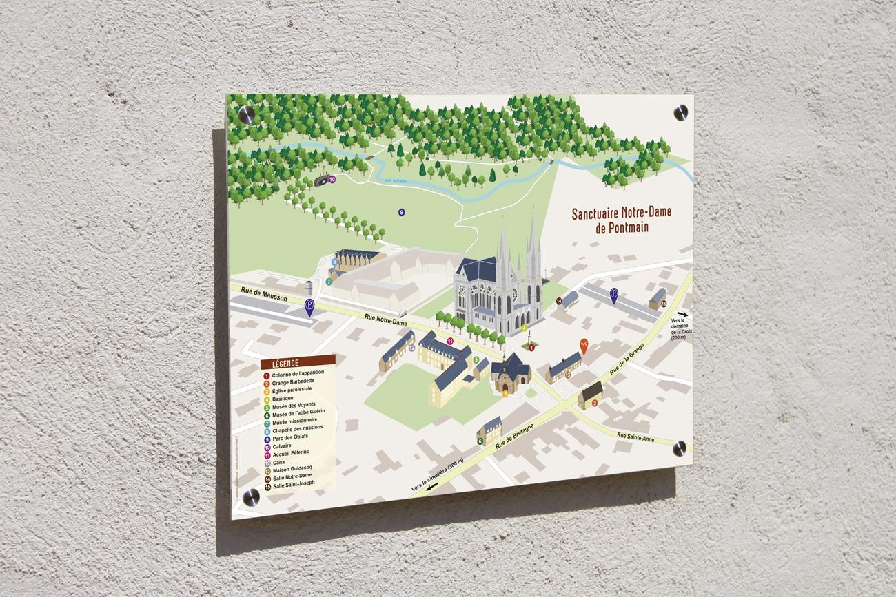 Plan Sanctuaire Notre-Dame de Pontmain