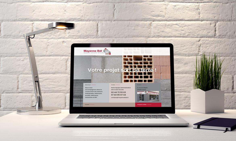 réalisation du site internet de Mayenne Bât